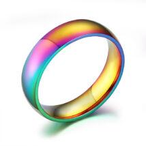 Rozsdamentes szivárvány színű acél gyűrű