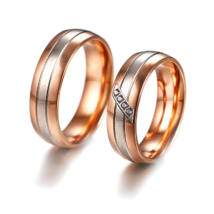Rózsaarany-Ezüst Színű Karikagyűrű