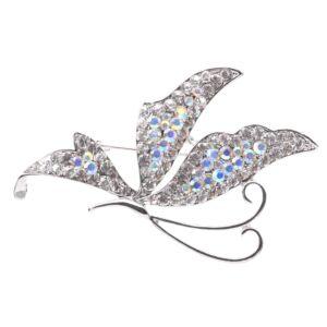 Ezüst színű pillangós bross