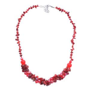 Piros köves női nyaklánc