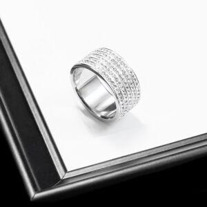 Rozsdamentes Acél Strasszköves Gyűrű