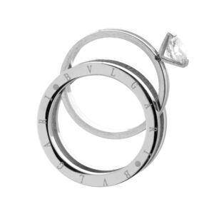 Női Két Darabos Strasszköves Gyűrű