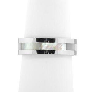 Női Ezüstszínű Gyöngyház Díszítésű Gyűrű