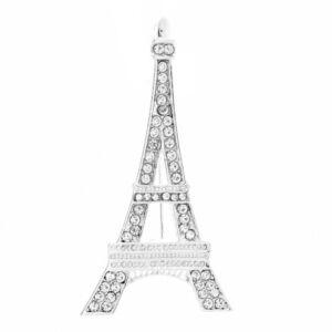 Női eiffel torony alakú bross kitűző strasszkövekkel