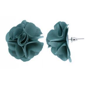 Nő sötét türkiz textil rózsa