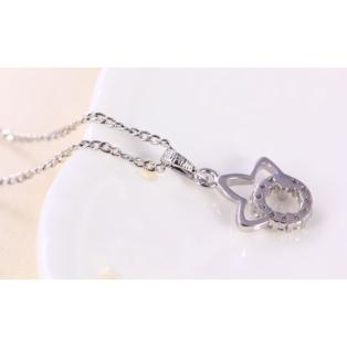 Xuping Ezüst színű rozsdamentes ötvözetből készült nyaklánc strasszos medállal