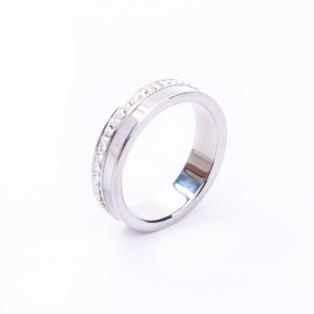 Női Ezüstszínű Gyöngyház és Strasszkő Díszítésű Gyűrű