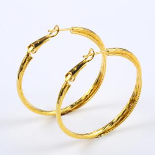 Arany színű Nyomottmintás Női Fülbevaló