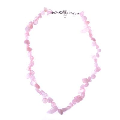 Világos rózsaszín köves női nyaklánc