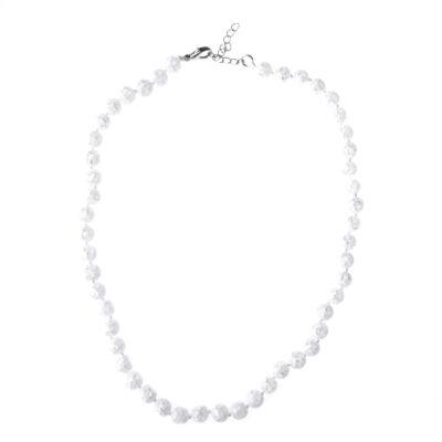 Fehér üvegkristály gyöngynyaklánc
