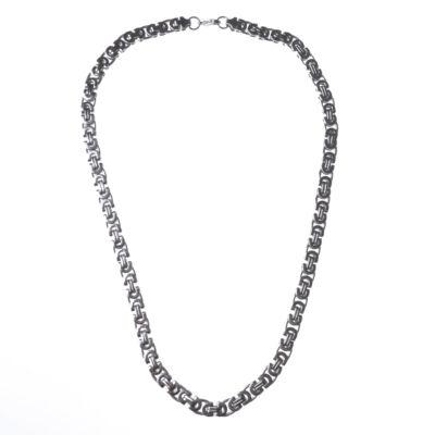 Ezüst színű rozsdamentes acél férfi nyaklánc