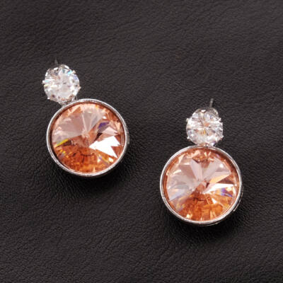 pezsgő színű női üvegkristály fülbevaló