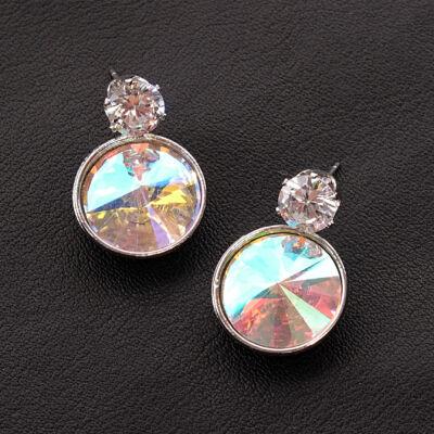 többszínű női üvegkristály fülbevaló