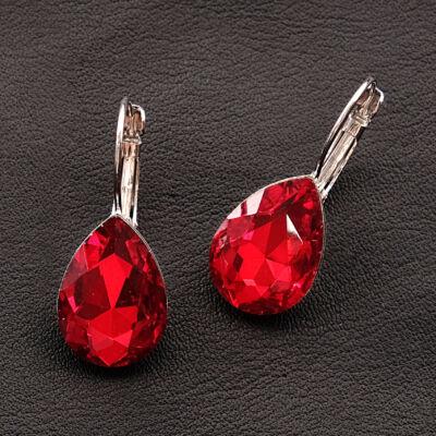 vörös női kapcsos fülbevaló