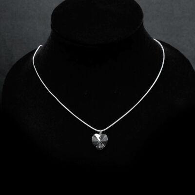 Szív medálos swarovski köves nyaklánc