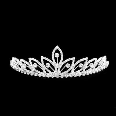 Alkalmi tiara strasszkő díszítéssel
