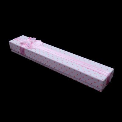 Rózsaszín ékszer tartó doboz